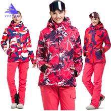 VECTOR Brand Ski Suit Women Warm Waterproof Skiing Suits Set Ladies Outdoor Sport Winter Coats Snowboard Snow Jackets and Pants цены