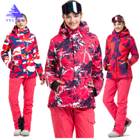 VECTOR Brand Ski Suit Women Warm Waterproof Skiing Suits Set Ladies Outdoor Sport Winter Coats Snowboard Snow Jackets and Pants