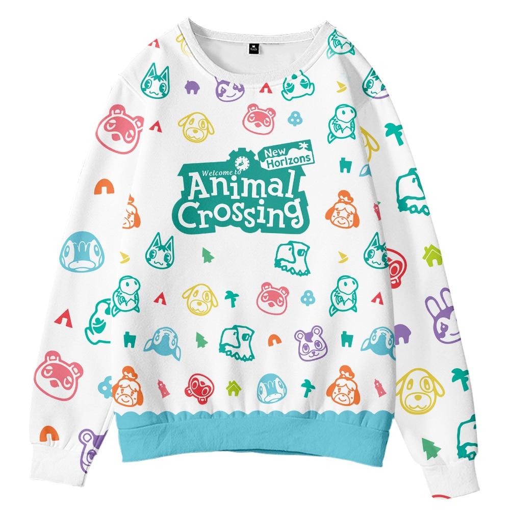Animal Crossing Sweatshirt Women Fashion Kawaii Cartoon Printing Harajuku 3D Pullovers Clothing Autumn Long Sleeve Sweatshirts