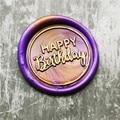 С днем рождения набор восковых печатей с Свадебная вечеринка день рождения штемпель письмо печать для конверта воск штамп & палочка комплек...