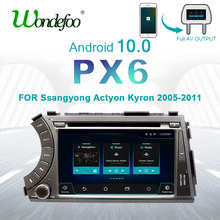 PX6 2 DIN Android 10 auto radio Per Ssang yong Ssangyong Actyon Kyron 2DIN car audio stereo ricevitore di navigazione autoradio dvd gps