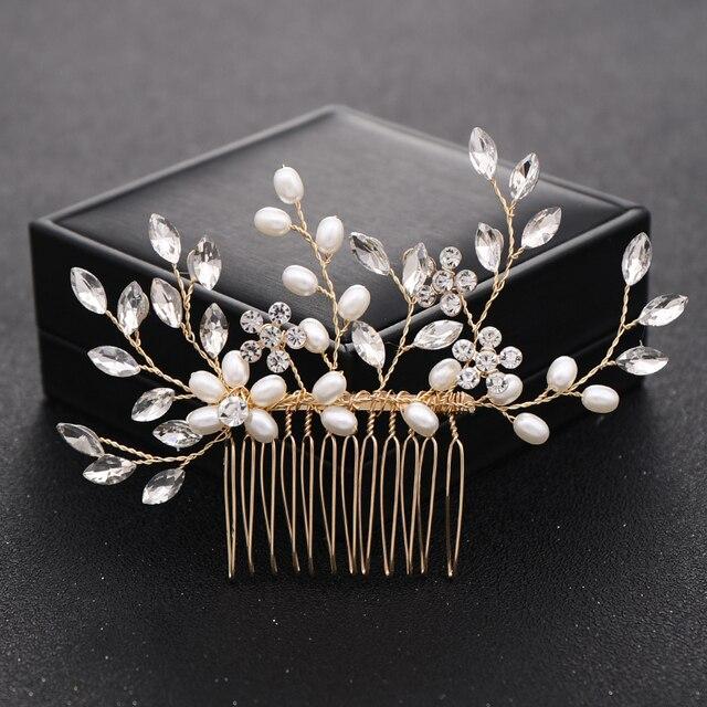 Perles Cristal Mariage Cheveux accessoires Mariée Cheveux Peigne Clips Diapositive têtière