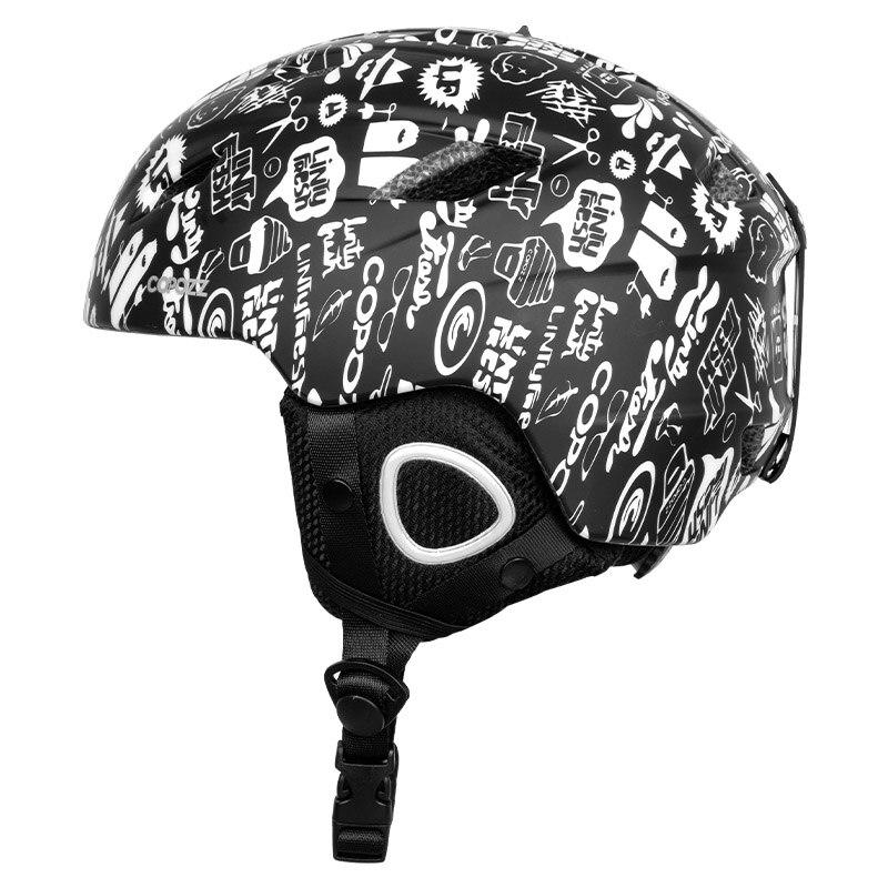 Copozz мужской женский лыжный шлем с половинным покрытием для сноуборда мото снегохода защитный зимний шлем теплая маска для взрослых и детей