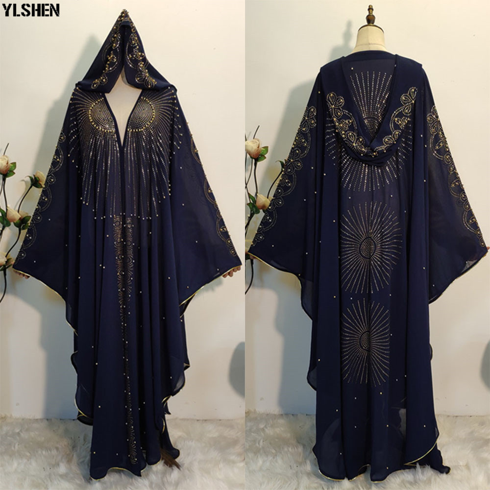 New African Dresses For Women Clothes Plus Size African Dress Dashiki Diamond Muslim Dress Abayas Dubai Robe Africa Clothing