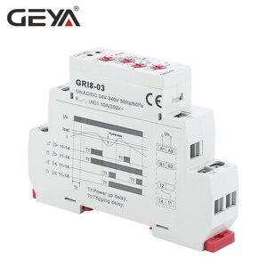 Image 3 - شحن مجاني GEYA GRI8 03 أكثر من الحالي أو تحت الحالي قابل للتعديل التتابع 0.05A 1A 2A 5A 8A 16A التتابع الحالي