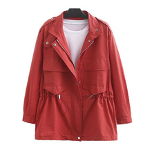 2019 Extra Large Size XL&4XL Women's Jacket Autumn new Windbreaker Jack