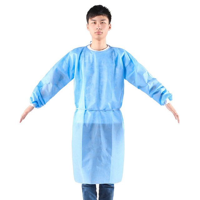 100pcs Disposable Security Protection Clothes Adult Disposable Gowns Dustproof Anti Infection Capes PPE Suit Isolation Gowns 1