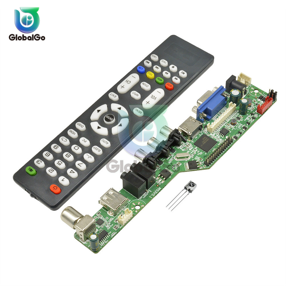 Universal <font><b>LCD</b></font> <font><b>USB</b></font> Controller <font><b>Board</b></font> Remote Control Resolution <font><b>TV</b></font> Motherboard <font><b>VGA</b></font> <font><b>HDMI</b></font> <font><b>AV</b></font> <font><b>TV</b></font> Driver <font><b>Board</b></font> Module image