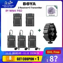 Boya BY-WM4 Pro professionelle Drahtlose Mikrofon System Lavalier Revers Mikrofon für Canon Nikon Sony DSLR Camcorder Recorder iPhone