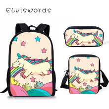 Cartoon Unicorn Scool Bag Girl Boys Student Kids Orthopedics Bagpack School Children Satchel Enfant