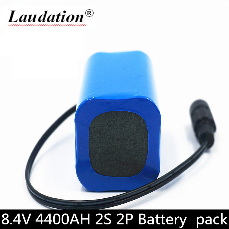 18650 <font><b>3.7v</b></font> <font><b>battery</b></font> 4.4Ah 2s <font><b>battery</b></font> pack 8.4v rechargeable <font><b>battery</b></font> for bicycle / CCTV / camera / electric headlights BMS image