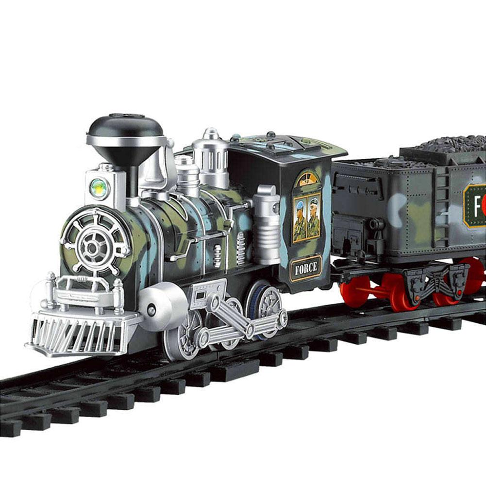 Classic Electric Dynamic Steam RC Train Train Set Simulation Track Model Toy Classic Children Railroad Conveyance Toys