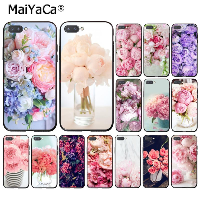 MaiYaCa Elegant Pink Purple Peony Flower On the Vase Phone Case for <font><b>Huawei</b></font> <font><b>Honor</b></font> <font><b>8X</b></font> 9 10 20 Lite 7A 8A 5A 7C 10i 20i View20 image