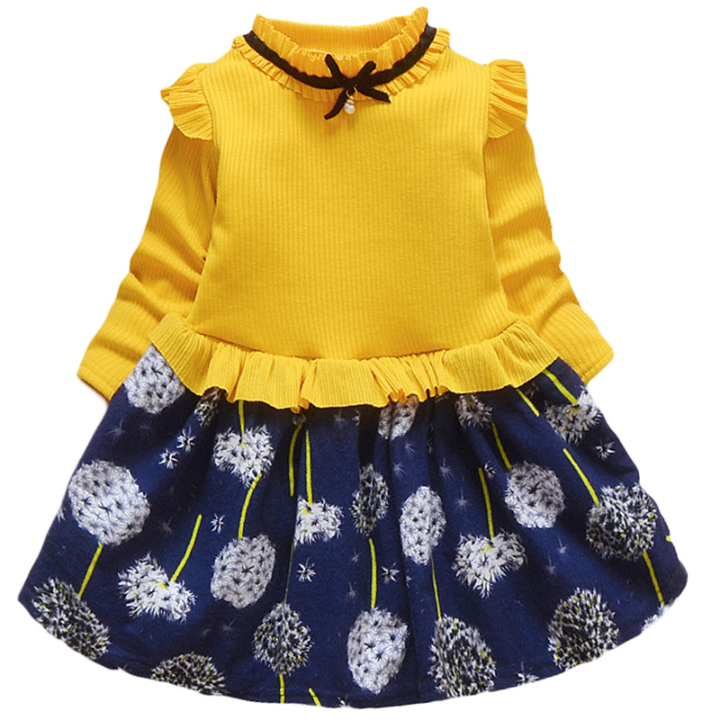 Baby Girls Spring Autumn Sweater Dress Infant Girl's Christmas Children Clothing Toddler Kids Dresses Clothes for 1- 6 Years 6