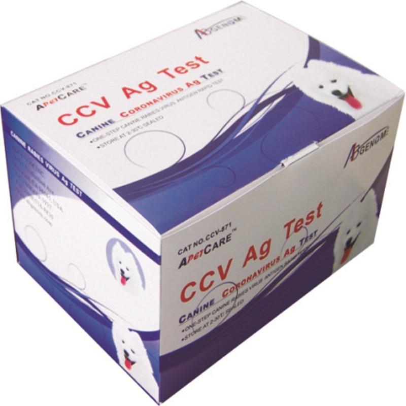 Wondcon Veterinary CCV Ag Test card Canine Coronavirus Ag Test kitPet Surgical Instruments   -