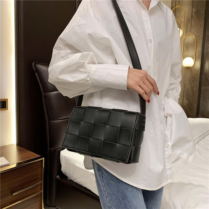 Weave Design Crossbody Bag Luxury Handbags Women Bags Designer Bolso MujerFemale Handbag And Purse Woven Style Shoulder Bag