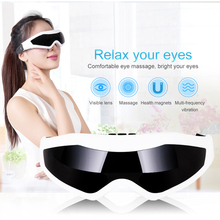 Electric Magnet Eye Mask Massager Therapy Relax Vibration Alleviate Acupressure Eye Protection Instrument Sleep Eye Care XA34T new wireless bluetooth heat eye mask rechargeable smart electric eyes massager care instrument x5xc
