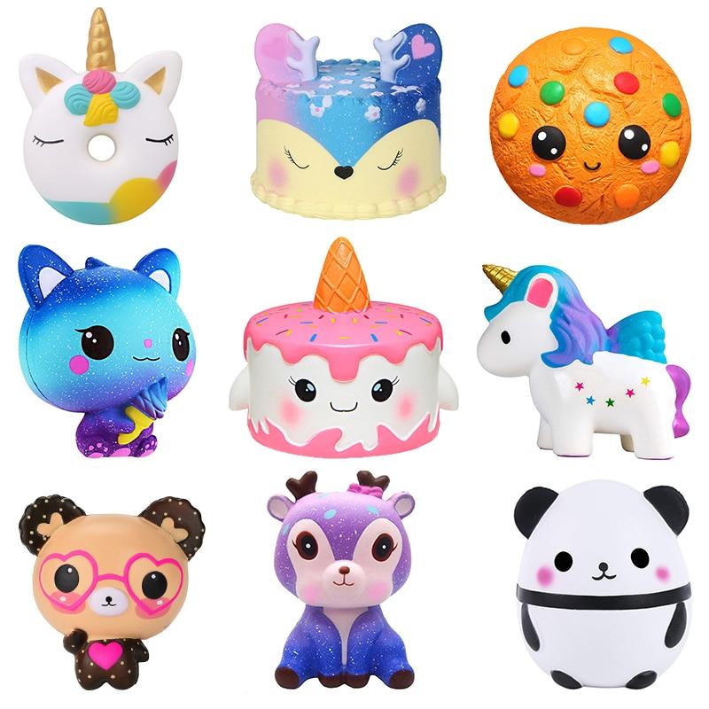 Jumbo Squishy Kawaii Unicorn Horse Cake Deer Animal Panda Squishies Slow Rising Stress Relief Squeeze Toys for Kids