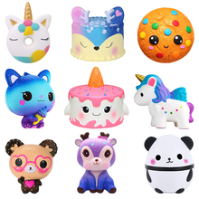 Relief-Squeeze-Toys Horse-Cake Stress Jumbo Squishy Panda Deer Animal Kawaii Unicorn