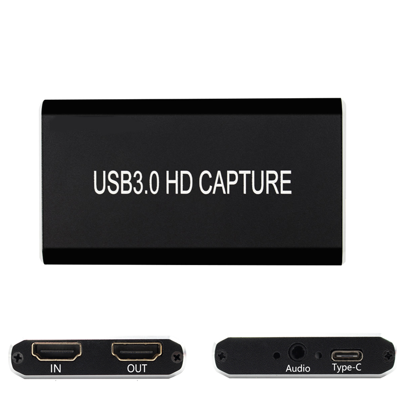 HDMI to HDMI Type c USB 3.0 Video Capture Card Game Streaming Live Stream Broadcast with Type C to USB 3.0 Cable