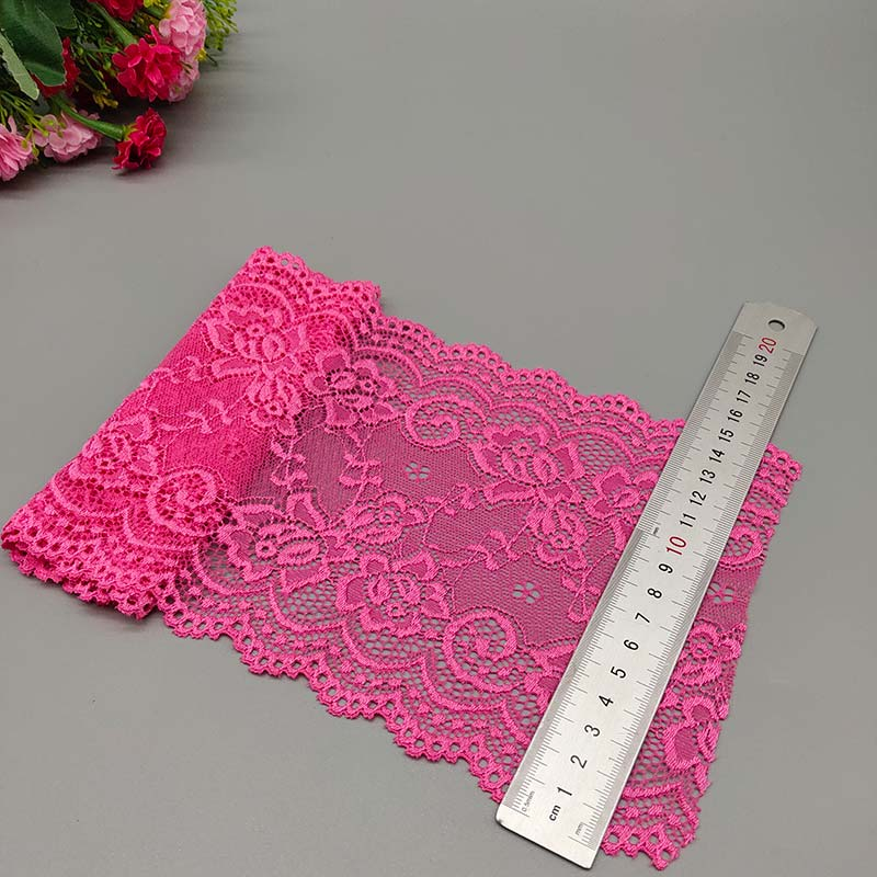 Black PrettyBoutique 1 Yard of 15cm Wide Elastic Stretch Lace Trim Ribbon Fabric Crafts Sewing DIY