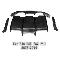 For F80 M3 F82 M4 PSM style carbon fiber rear bumper lip real carbon fiber rear diffuser body kit 2015 2019