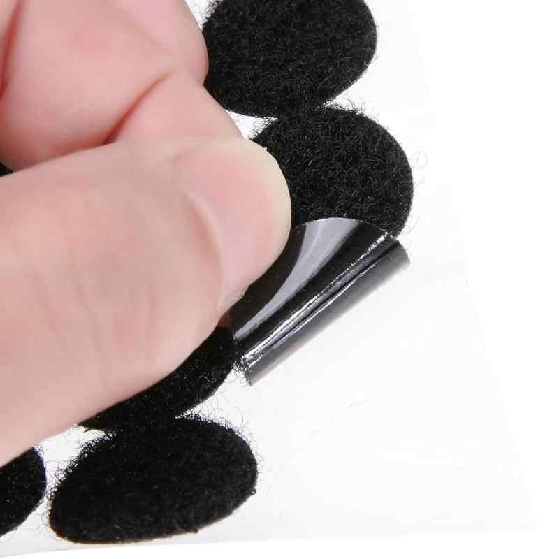 10/15/20/25mm 100 pares puntos magia pegatina gancho y lazo doble cara fuerte herramientas de coser con botón a presión cinta adhesiva de nailon