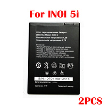 Original 2PCS 2850mAh inoi 5i Battery For INOI 5I Lite INOI5 Lite Phone In Stock New Production High Quality Battery смартфон inoi 1 lite gold