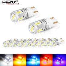 IJDM W5W LED T10, lampes de voitures sans erreur, clignotant, Signal latéral, feu de stationnement, lumière inversée, 12V 32V, 168 194