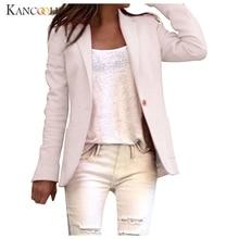 KANCOOLD 2019 Spring Autumn Slim Fit Women Formal Jackets Office Work Open Front Notched Ladies Blazer Coat Hot Sale Fashion