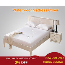 Waterproof Bed Cover Smooth Mattress Protector Cover for Bed Wetting Breathable Anti-mite Mattress Pad Cover for Mattress(China)