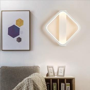 Aluminum wall lamp LED living room lamp simple modern aisle restaurant room personality creative art Nordic bedroom wall lamps