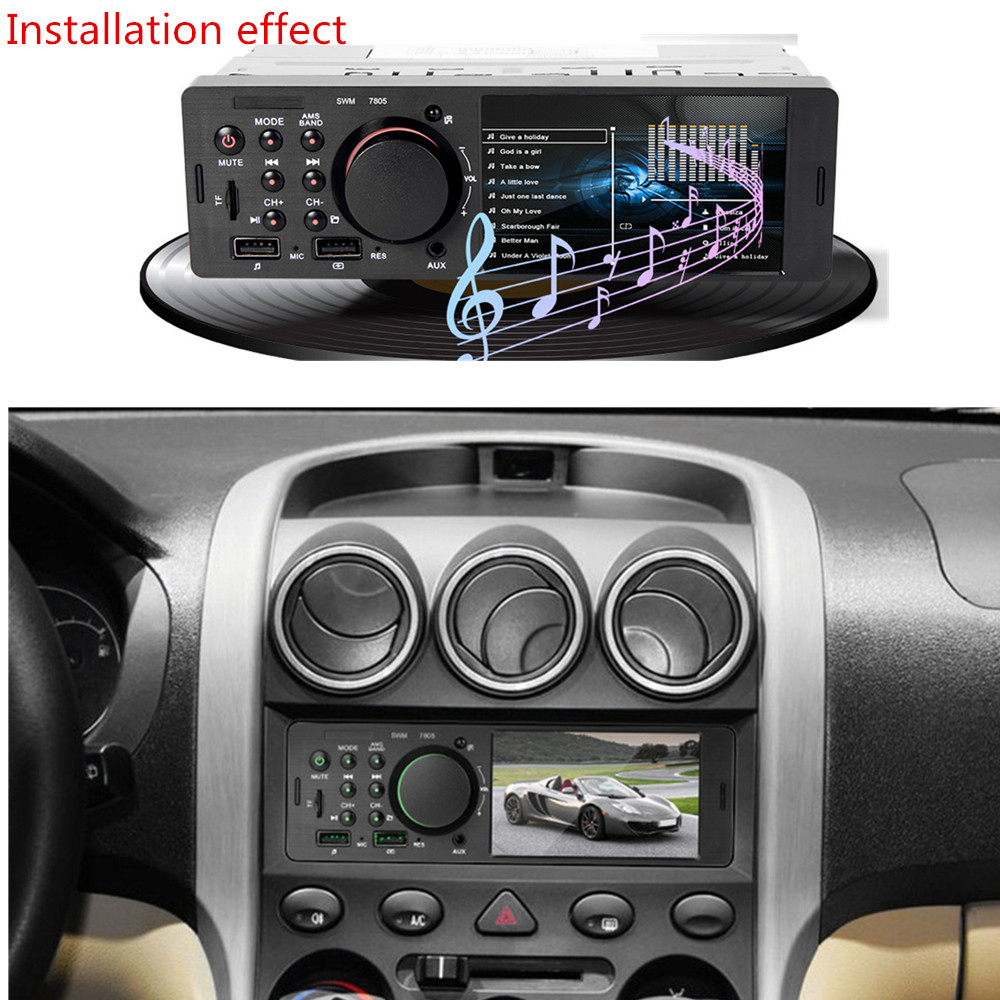 Bluetooth 4,0 Empfänger Auto <font><b>Kit</b></font> <font><b>MP3</b></font> <font><b>Player</b></font> <font><b>Decoder</b></font> <font><b>Board</b></font> Farbe Bildschirm FM Radio TF USB 2,0 Mm AUX Audio universal für Iphone XS image