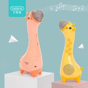 Beiens-Micrófono de carga USB para niños, Karaoke, regalo, música, máquina de cantar, inalámbrica de bolsillo, KTV