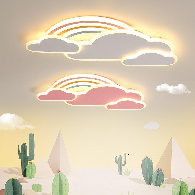 Kinderen verlichting Eenvoud Moderne Gezellige Romantische Slaapkamer Cartoon Regenboog Originaliteit led techo plafonnier led