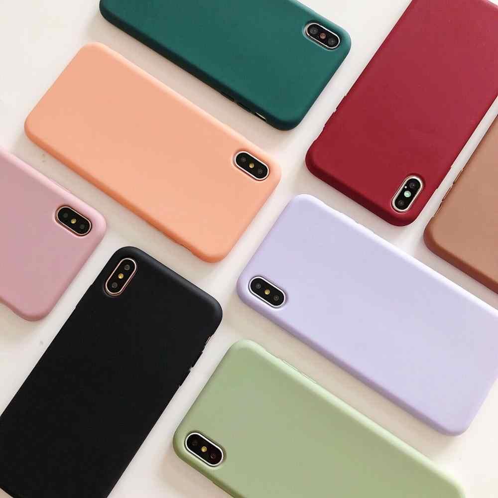 Lovebay كاندي الهاتف حقيبة لهاتف أي فون 6 6s 7 8 Plus X XR XS 11 Pro Max جميل بسيط بلون لينة سيليكون لفون 11
