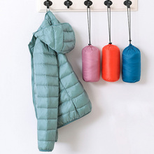 Spring Autumn Womens Jackets Ultra Thin Light Down Black Red Pink Female Hooded Coats Plus Size 5XL 6XL