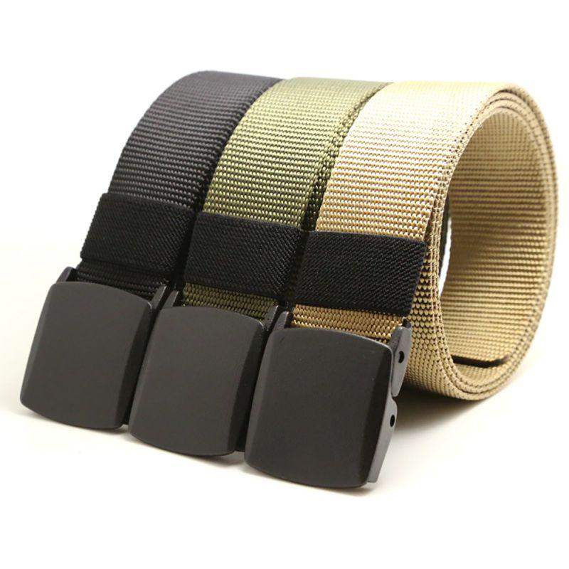Automatic Buckle Nylon Belt Male Army Tactical Belt  Mens Luxury Waist Designer Belts Men High Quality Strap New