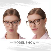 إطارات نظارات يدوية الصنع رائجة البيع واضحة للنساء خلات موضة سيدة كبيرة الحجم نظارات ديمي الأحمر FVG7057