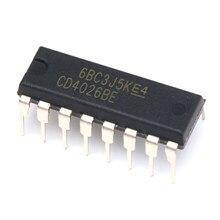 5 pces cd4026be hef4026bp mc14026bcp cmos contadores da década/divisores DIP-16pin