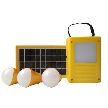 Outdoor Multi-Function 3W Solar Power Small System Solar Camping Lighting System Home Portable Generator