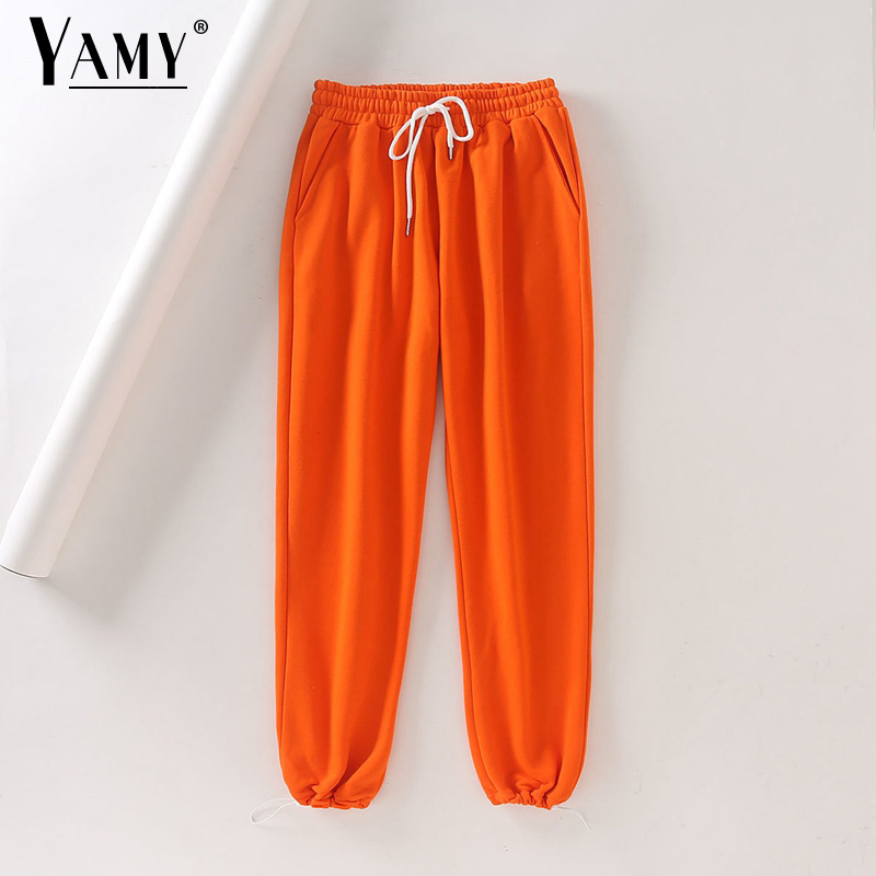 White Casual Joggers Women Cargo Pants High Waist Womens Joggers Sweatpants Korean Sweat Pants With Pockets Female Joggers Mujer