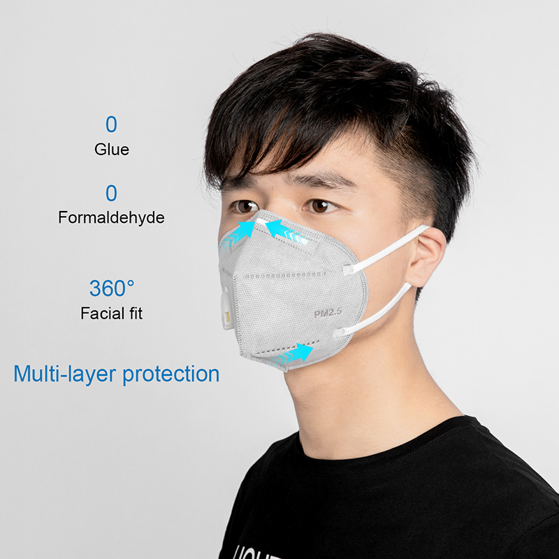 10PCs KN95 Folding Valved Dust Mask PM2.5 Anti Bacteria Formaldehyde Bad Smell Bacteria Proof Face Mouth Mask Safe