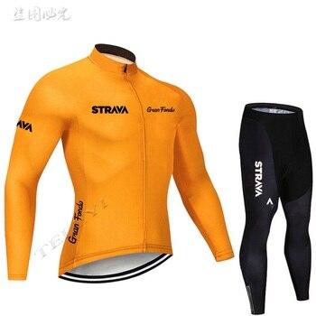 2019 strava outono manga longa camisa de ciclismo conjunto bib calças ropa ciclismo roupas de bicicleta mtb camisa uniforme roupas masculinas 16