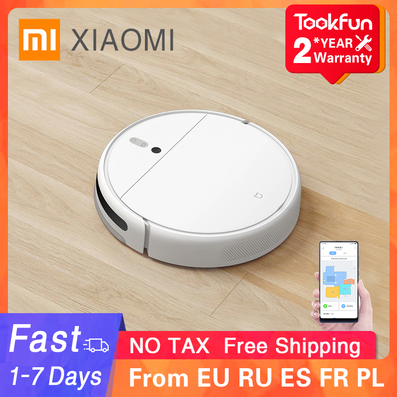 XIAOMI MIJIA Robot Vacuum Cleaner 1C for Home Wet Mopping Auto Sweeping Dust Sterilize 2500PA cyclone Suction Smart Planned Map|Vacuum Cleaners| - AliExpress