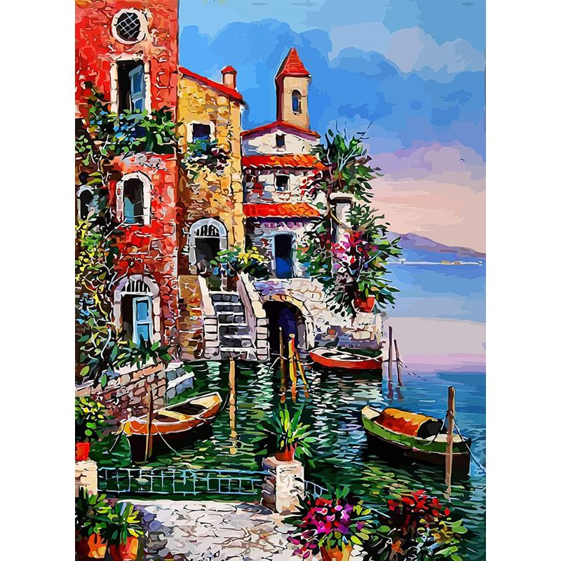 DIY Rhinestone Embroidery Full Drill Cross Stitch Arts Craft for Home Wall Decor Moon Daughter 30X40cm 5D Full Diamond Painting Kit