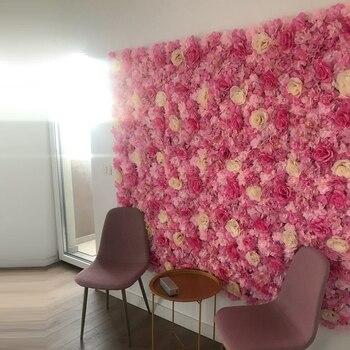 Silk Rose Artificial Flower Wall