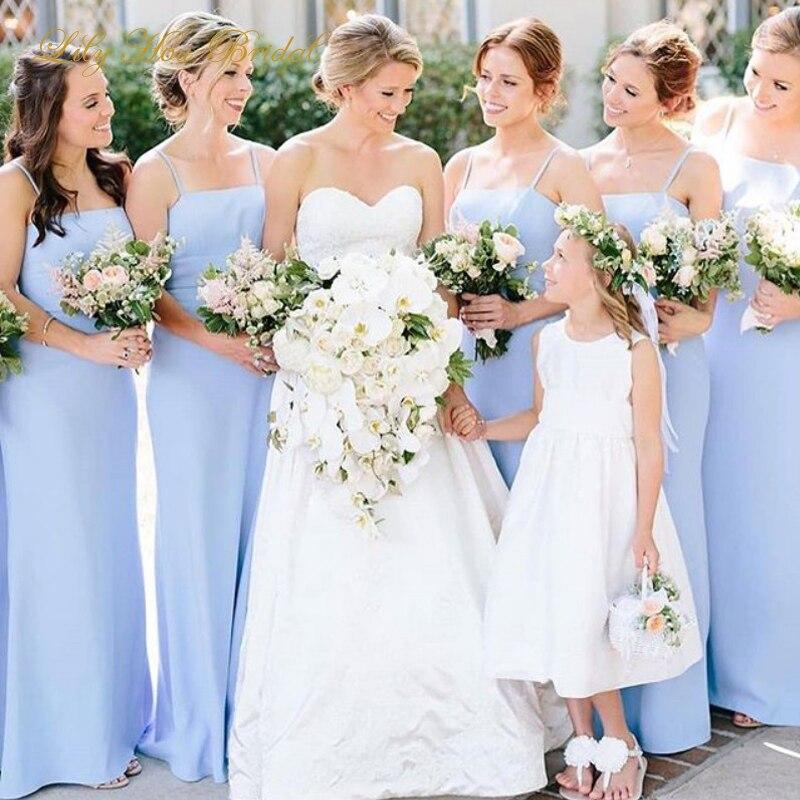 Elegant Dress Women For Wedding Party Lavender Chiffon Long Floor Length Bridesmaid Dress Maid Of Honor Gown