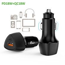 Sundaree – chargeur de voiture rapide 36W QC 3.0 USB Type C, pour Xiaomi Iphone 12 11 10 8 7 6 X XS Samsung Galaxy s7 s8 s9 s10