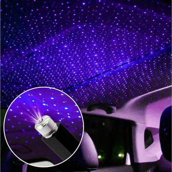 Mini LED na dach samochodowy gwiazda lampka nocna z USB dekoracyjna lampa projektor regulowana atmosfera Home sufitowa lampa ozdobna tanie i dobre opinie Klimatyczna lampa Metal Violet 226x15mm 0 2 A 0 15 W USB connector